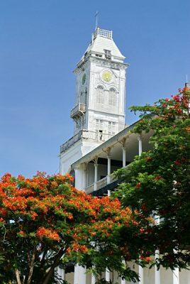 Tower on the Beit al-Ajaib (House of Wonders), Stone Town, Zanzibar, Tanzania
