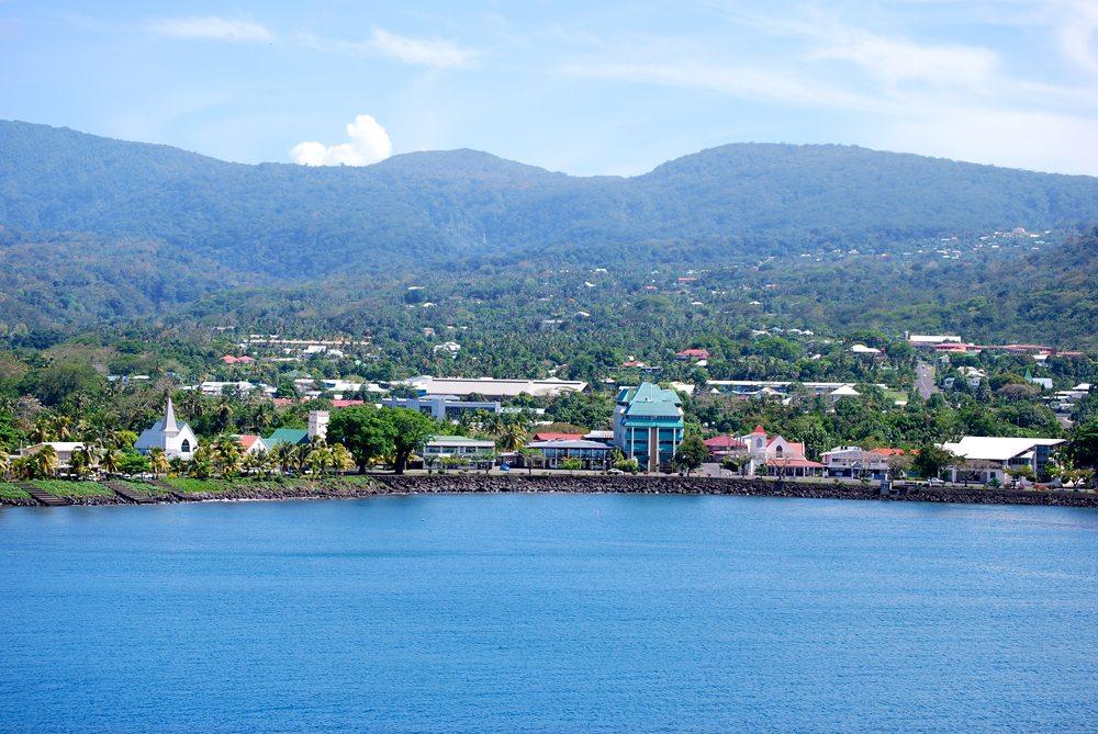Aerial view of Apia, Upolu, Samoa