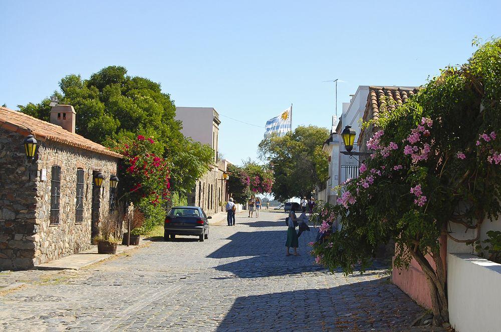 Cobblestone Street in Colonia Del Sacramento, Uruguay