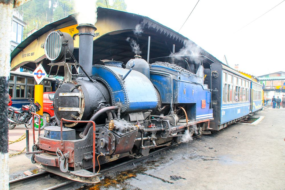 Darjeeling toy steam train in Ghum, India