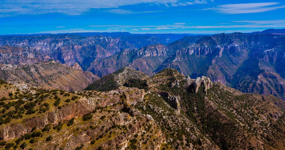 Panoramic view of Copper Canyon, Sierra Madre Occidental, Chihuahua, Mexico