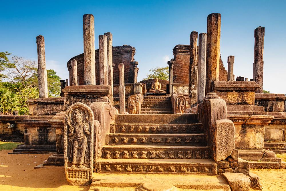 Sacred Quadrangle with Buddha in Polonnaruwa, Sri Lanka