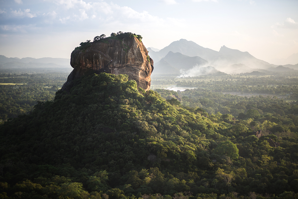 Sigiriya Lion Rock fortress and landscape in Sri Lanka