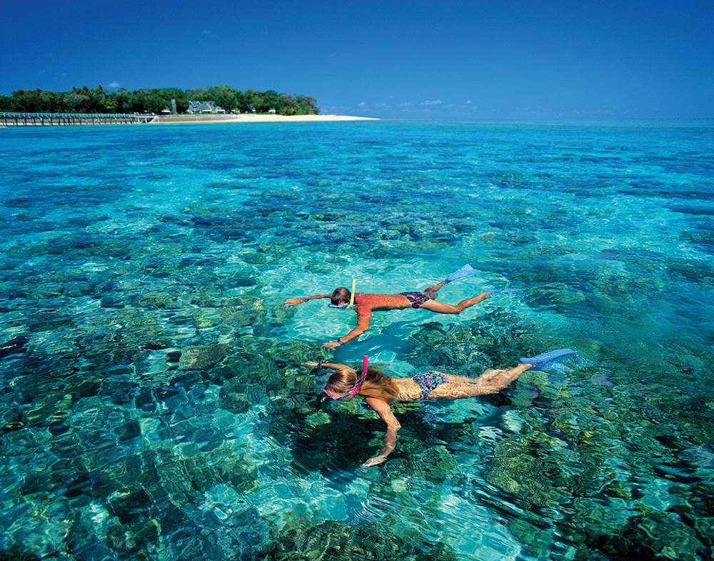 Snorkelling at Green Island in Great Barrier Reef, Queensland, Australia