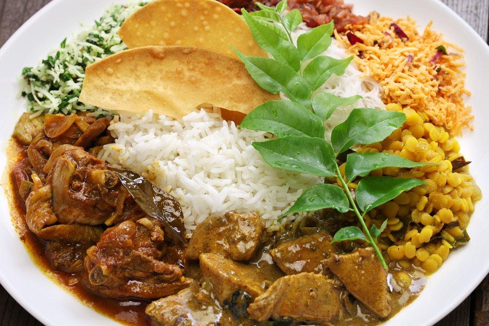 Sri Lankan rice and curry dish, Sri Lanka