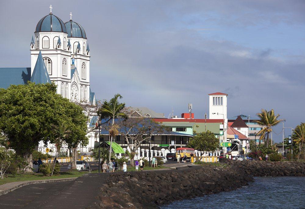 Sunny morning in Apia, Samoa