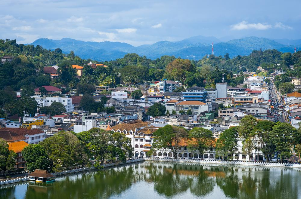 Temple of the Tooth Relic in Kandy, Sri Lanka