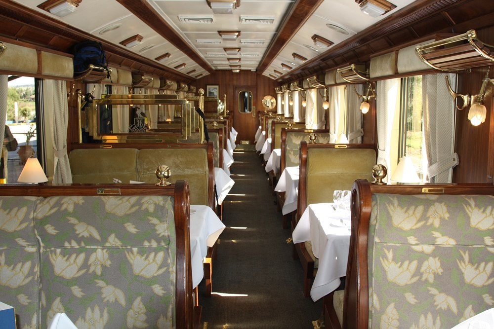 Train Interior, Hiram Bingham Orient Express, Cusco to Machu Picchu, Peru