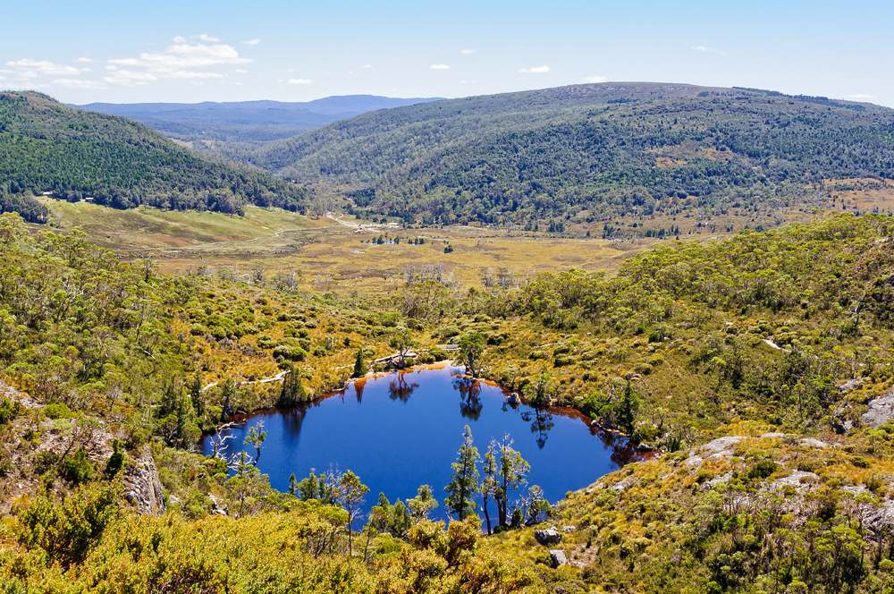 Wombat Pool photographed from Marion Lookout track, Cradle Mountain-Lake St Clair National Park, Tasmania, Australia