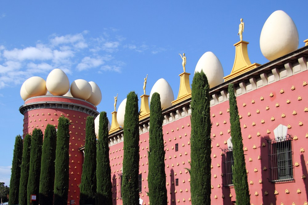 Details of Salvador Dali Museum in Figueras, Spain
