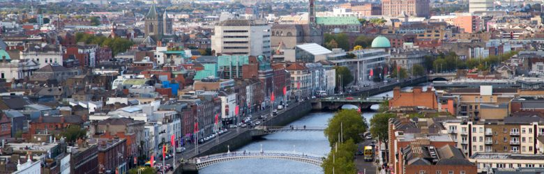 Dublin Skyline and Liffey River, Dublin, Ireland
