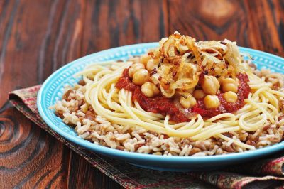 Kushari, an Egyptian dish, Egypt
