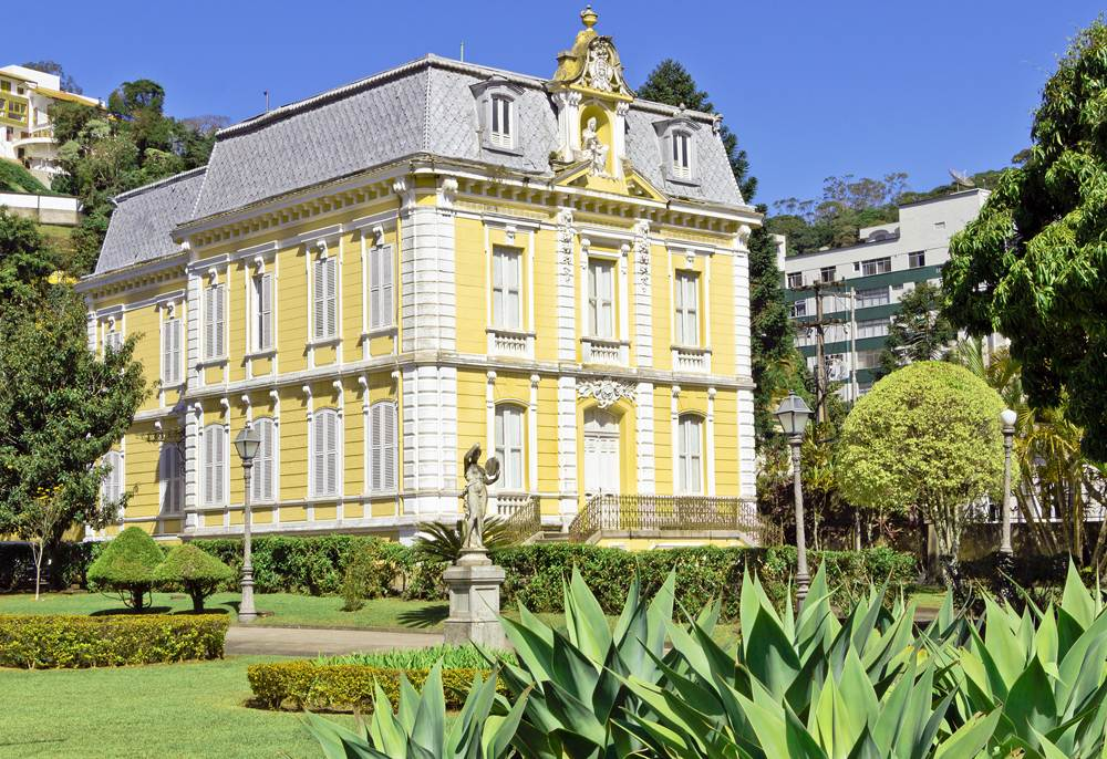 Nineteenth century mansion and its gardens in the imperial city of Petropolis, Brazil