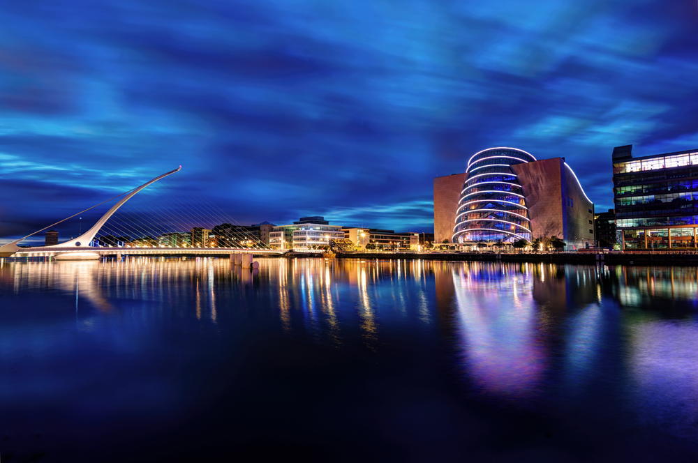Samuel Beckett Bridge and Convention Centre, Dublin, Ireland