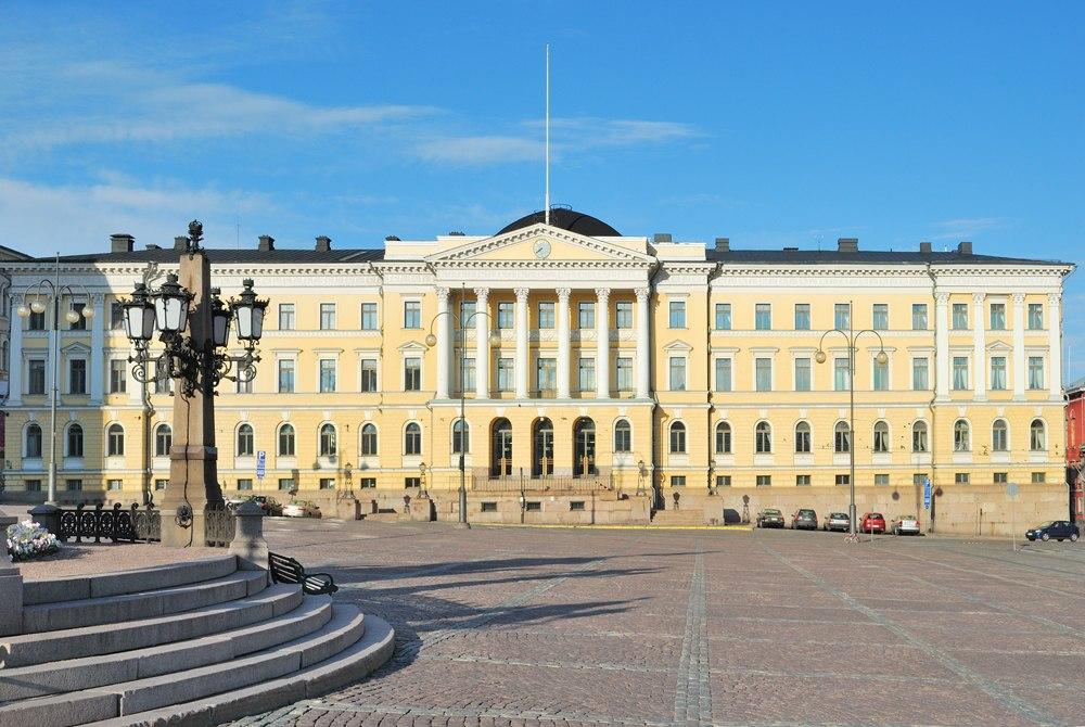 Senate Square in a sunny spring evening, Helsinki, Finland