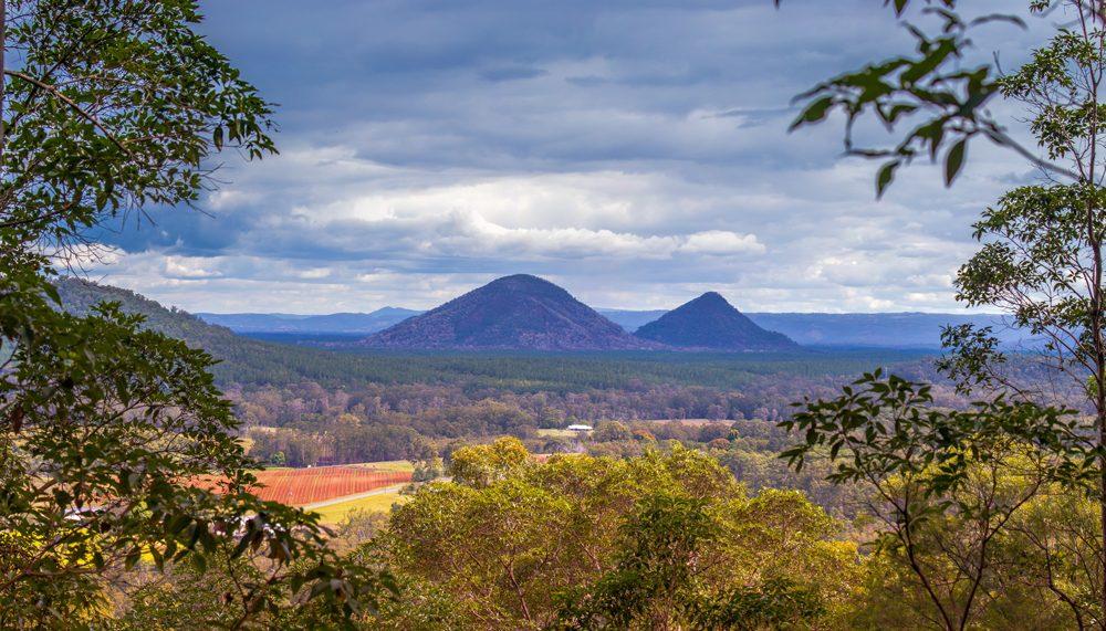 Stunning view from mid way up Mt Ngungun in the Sunshine Coast Hinterland, Queensland, Australia