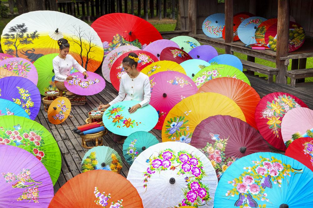 Umbrella Painting, Chiang Mai, Thailand