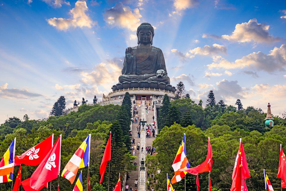 Tian Tan Big Buddha of Lantau Island in Hong Kong, China