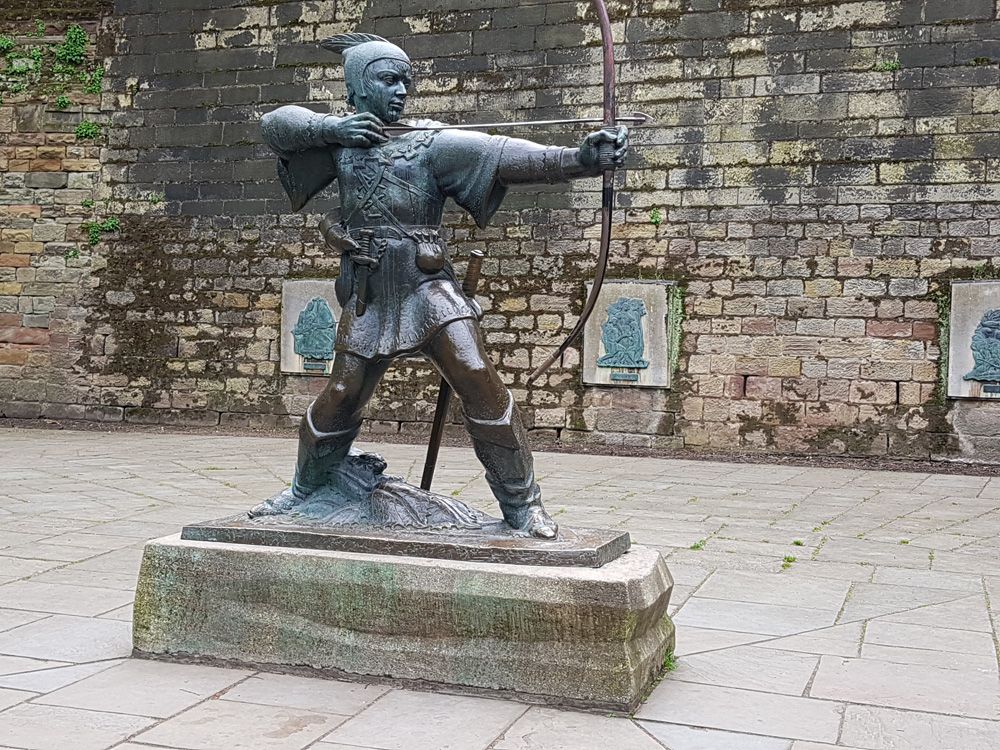 Christian Baines - Keeping a local (fictional) legend alive, Robin Hood, Nottingham, England, UK (United Kingdom)