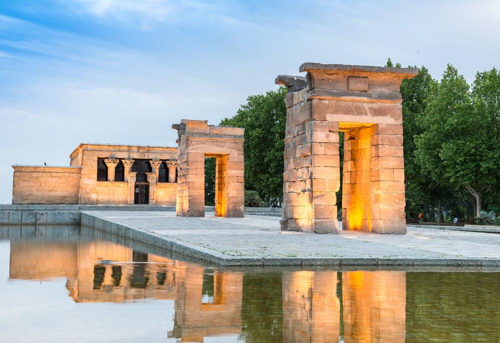 Debod Temple in Madrid, Spain