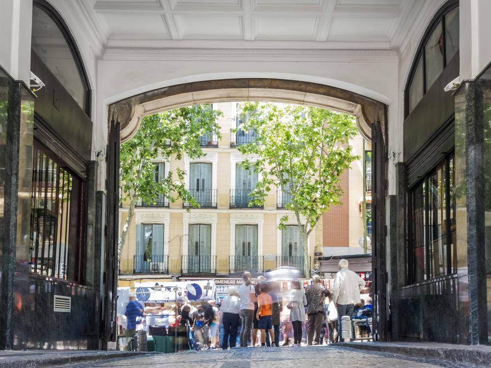 El Rastro Flea Market in Madrid, Spain