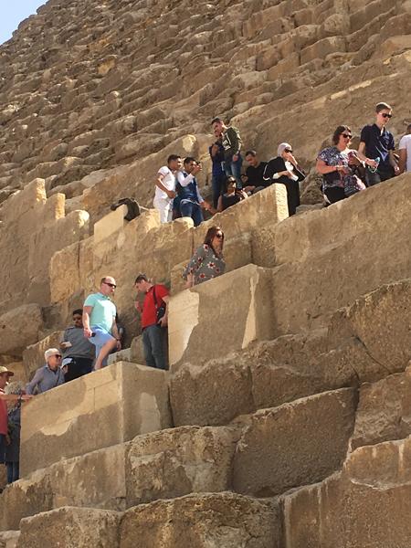 Emma Cottis - Heading into the pyramid, Giza, Egypt