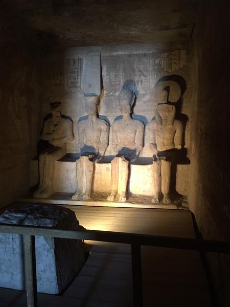 Emma Cottis - Inside Ramses temple at Abu Simbel House of the Gods, Egypt