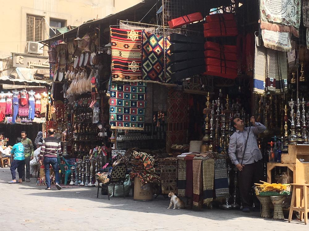 Emma Cottis - Shopping at Khan el Khalili, Cairo, Egypt