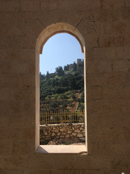 Emma Cottis - View of Ajlun Castle from Summaga Café, Jordan