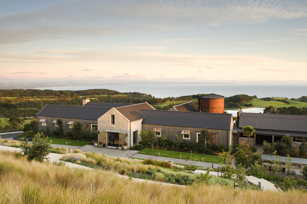 Janie Robinson - Cape Kidnappers Lodge front view, New Zealand