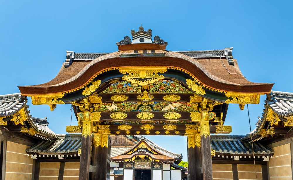Karamon main gate to Ninomaru Palace at Nijo Castle in Kyoto, Japan