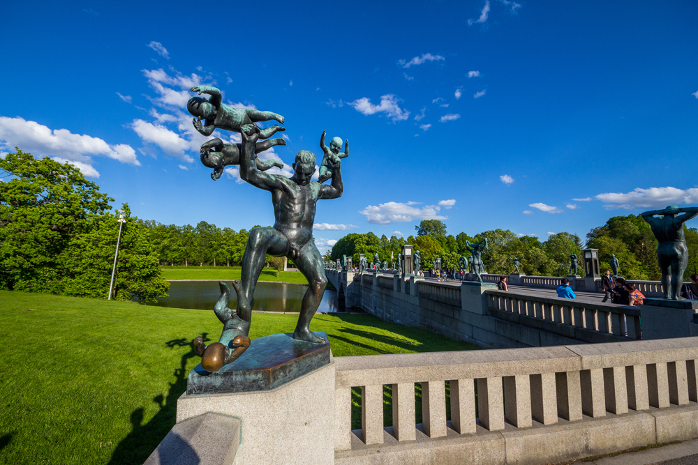 Man Attacked By Babies sculpture at Vigeland Park, Oslo, Norway
