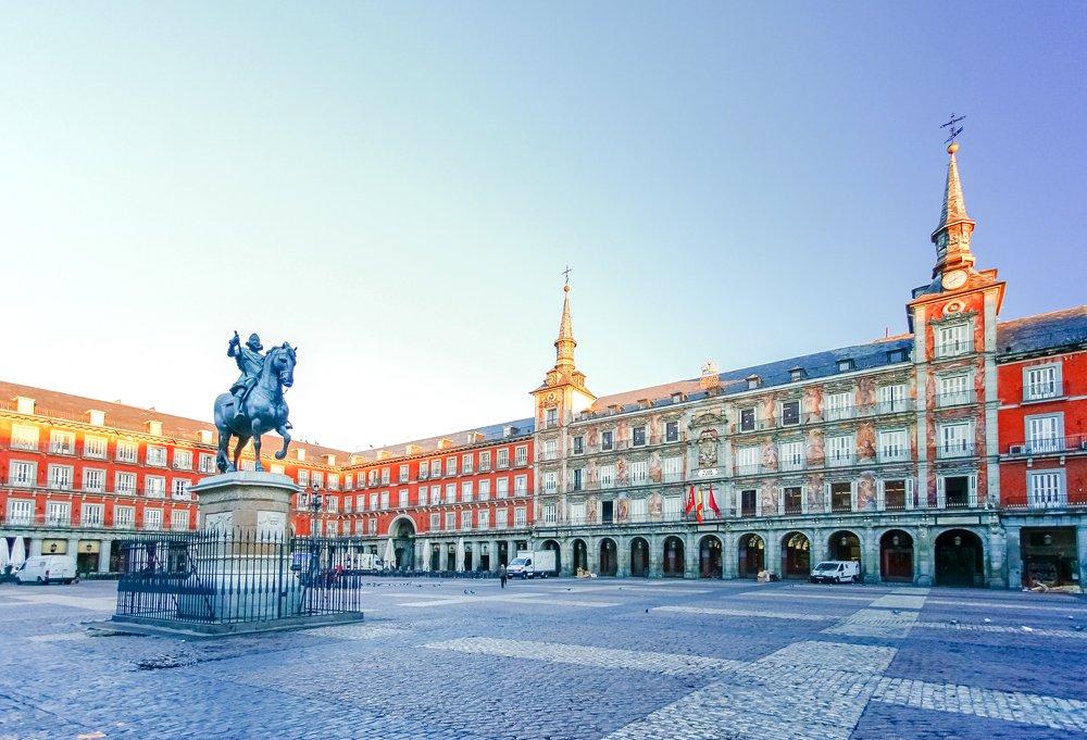 Morning Light at Plaza Mayor in Madrid, Spain