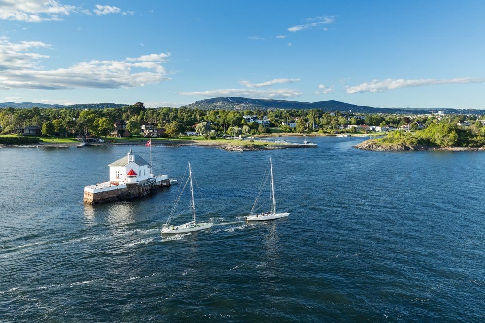Oslofjord during a sunny summer day, Oslo, Norway