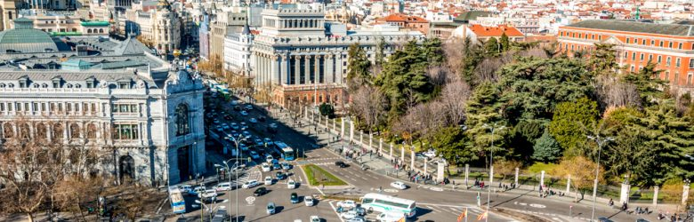 Panoramic view of Madrid, Spain