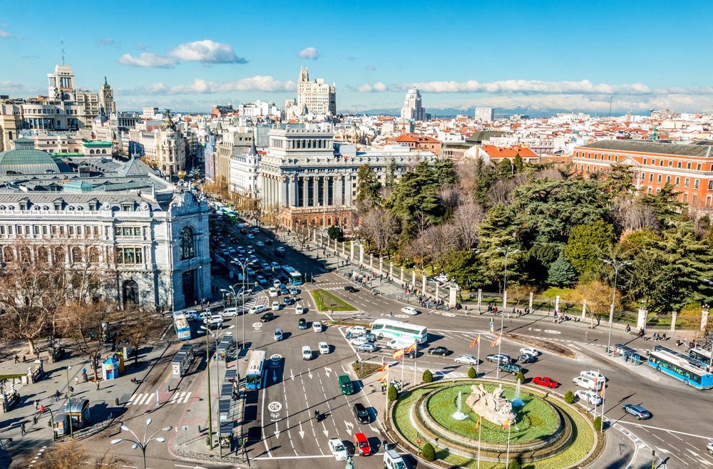 Panoramic view of Madrid, Spain