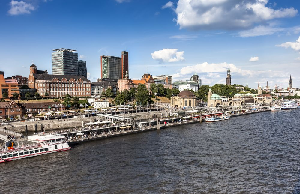 Port and skyline of Hamburg, Germany