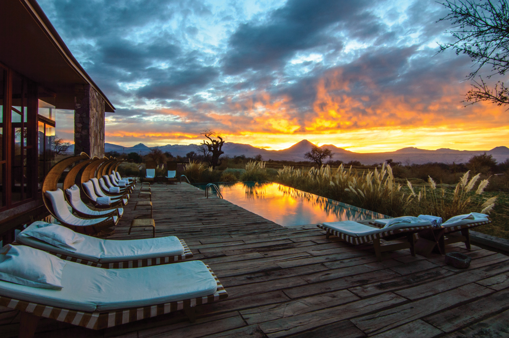 Tierra Atacama at sunset, Atacama, Chile