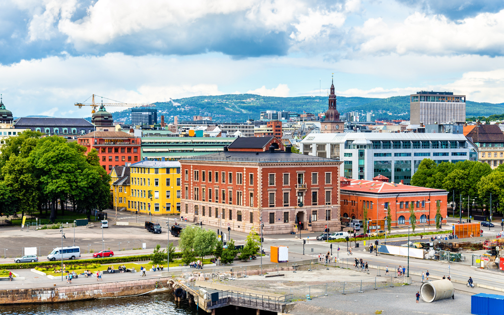 View of the city centre of Oslo, Norway