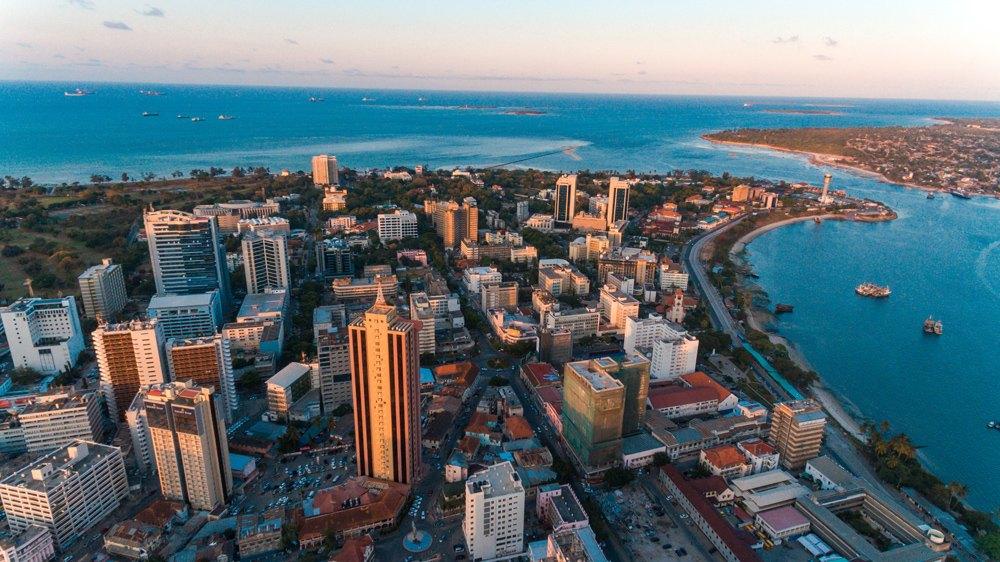 Aerial view of Dar es Salaam, Tanzania