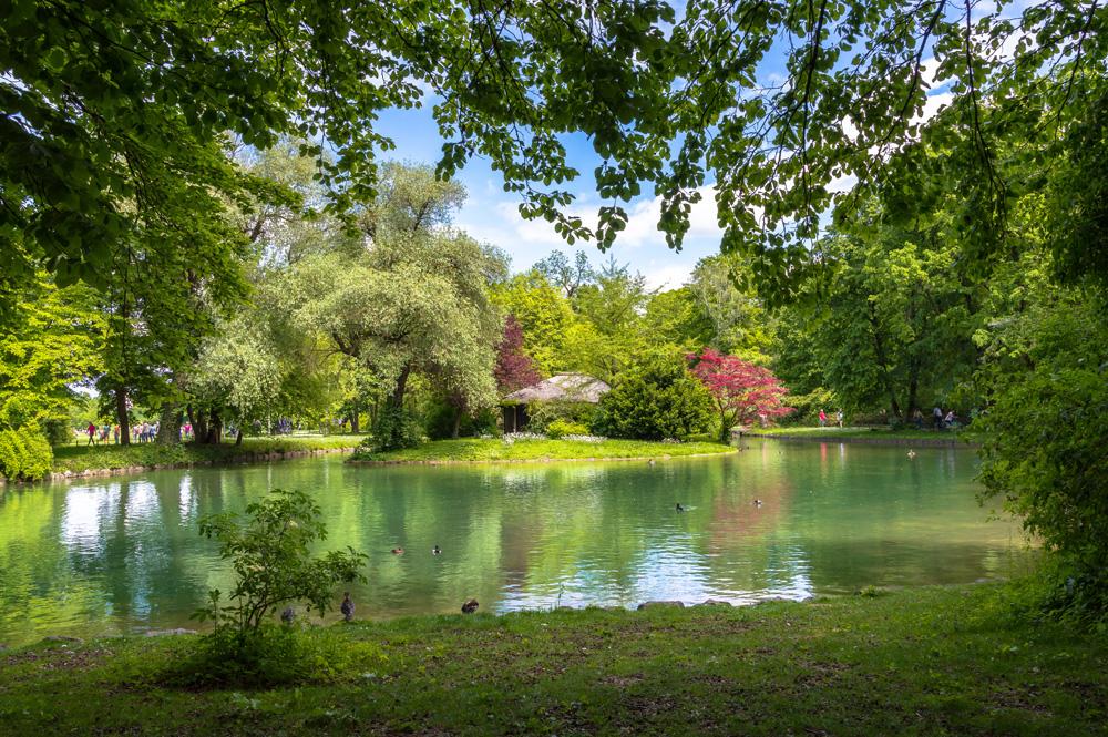 English Garden in Munich, Germany