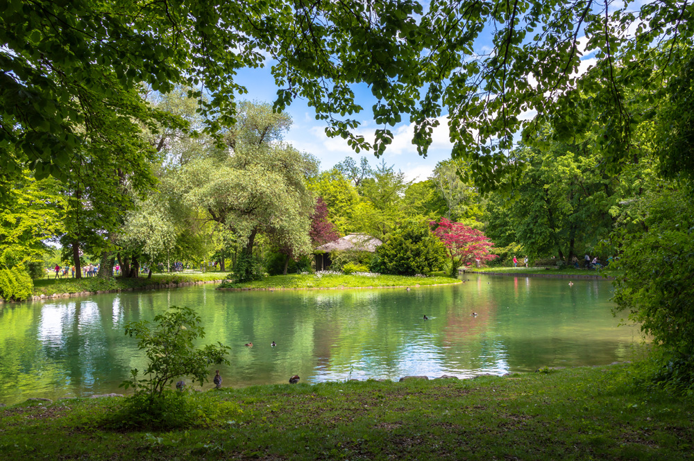 English Garden in Munich, Germany