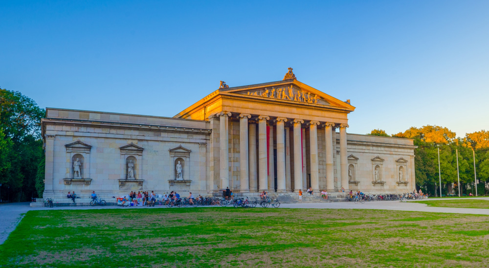 Glyptothek Museum, located in Koenigsplatz, Munich, Bavaria, Germany