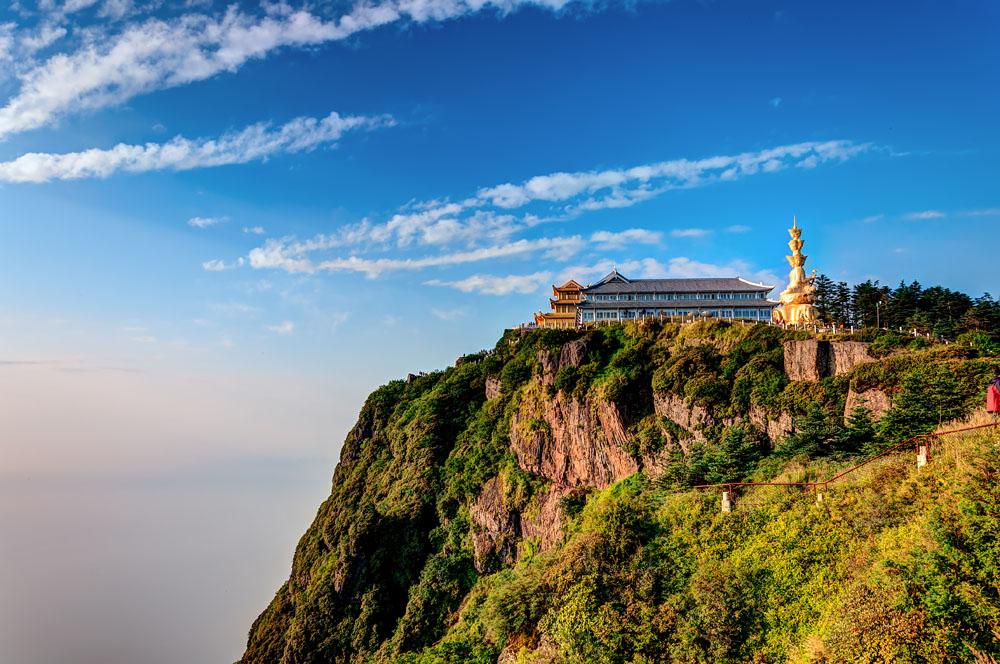 Golden Temple at Golden Summit, Mount Emei (Emeishan), China