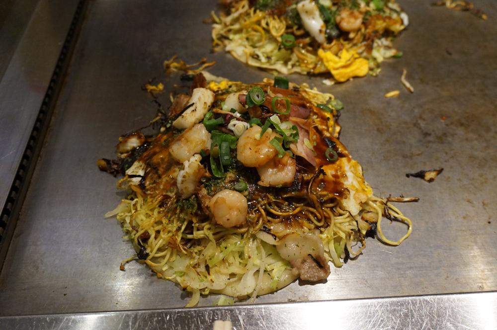 Hiroshima style okonomiyaki, Japan