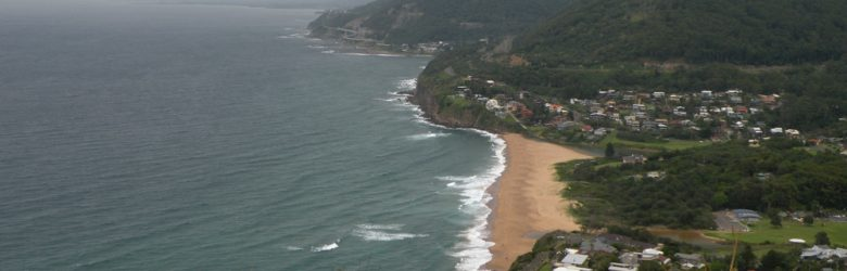 Janie Robinson - View from Bald Head down Grand Pacific Drive, New South Wales, Australia