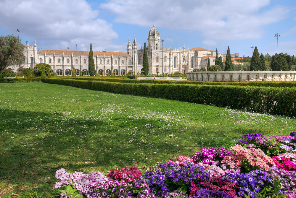 Jeronimos Monastery in the Belem area of Lisbon, Portugal
