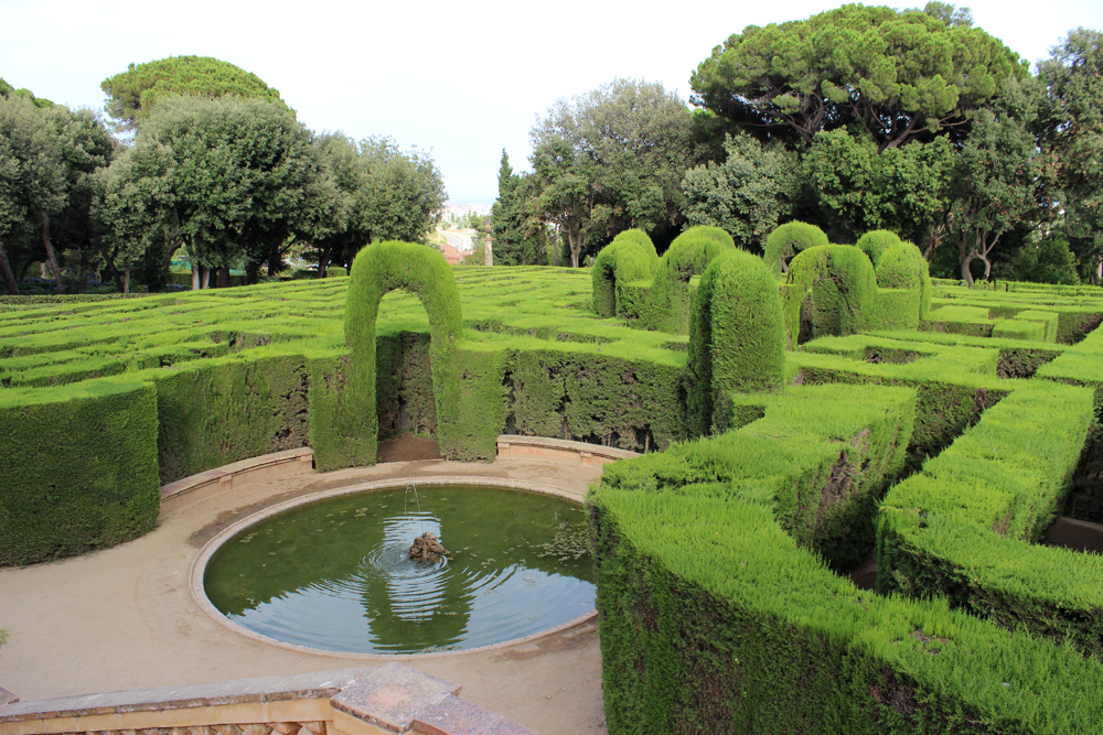 Labyrinth Park of Horta in Barcelona, Spain