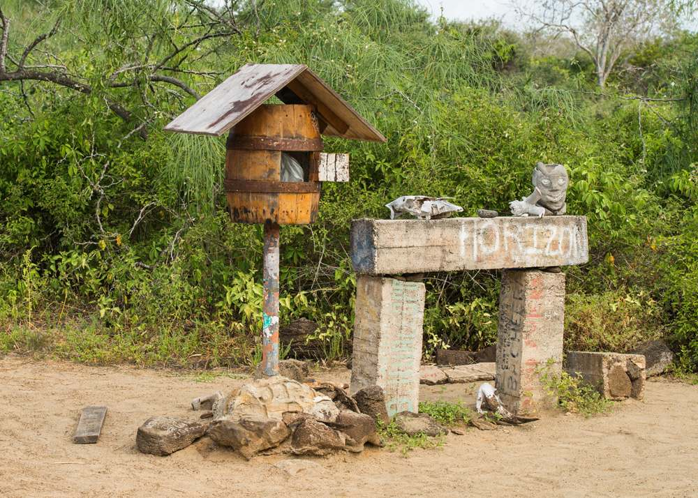 Mail box in Post Office Bay, Floreana Island, Galapagos Islands, Ecuador