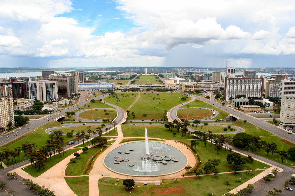 Monumental Axis in Brasilia, Brazil